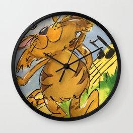 Tabby Tango Wall Clock