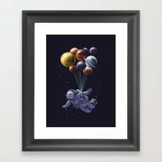 Space travel Framed Art Print