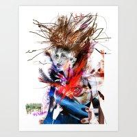 lara croft Art Prints featuring miss lara croft by yossikotler