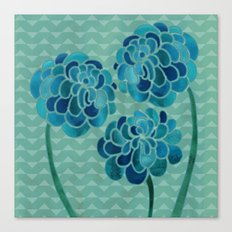 Blue Chrysanthemums Canvas Print