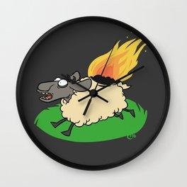 Flaming Sheep (White) Wall Clock