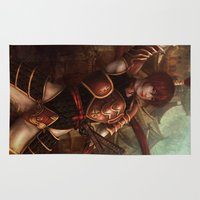 samurai Area & Throw Rugs featuring Samurai by Sinistral