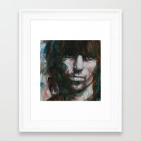 sopranos Framed Art Prints featuring Not Fade Away by Paul Lovering Watercolors