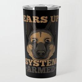 German Shepherd Tshirt I Schäferhund dog Travel Mug