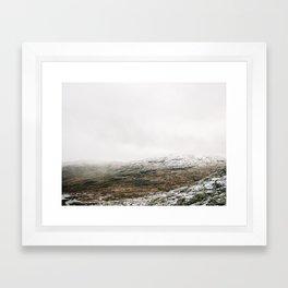 White winter mountain landscape | Norway travel photography print | Trolltunga Wanderlust art Framed Art Print