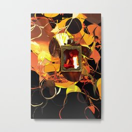 Luchador and fire Metal Print