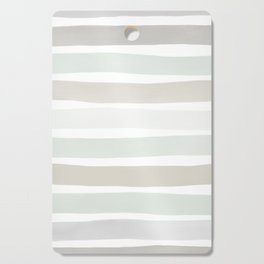 Watercolor Stripes Hues of Grey by Friztin Cutting Board
