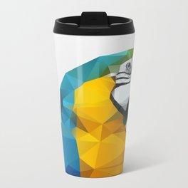 Geo - Parrot Metal Travel Mug