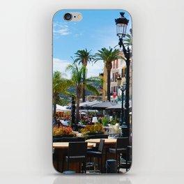 Sidewalk Cafe at Calvi France iPhone Skin