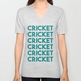 Cricket lover sports Unisex V-Neck