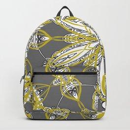 Yellow Splash on Victorian Gray Backpack