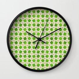 Irish Shamrock Four-leaf clover pattern Wall Clock