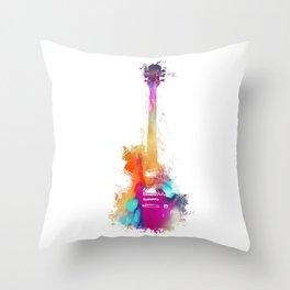 Funky Guitar Throw Pillow