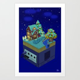 Animal Crossing- Winter Art Print