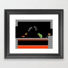 Mario Bowser Fight Framed Art Print
