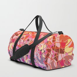 Summer Sunset Abstract - Purples and Reds Duffle Bag