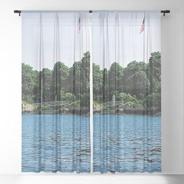 Squantum Mansion and Boathouse, East Providence, Rhode Island Sheer Curtain