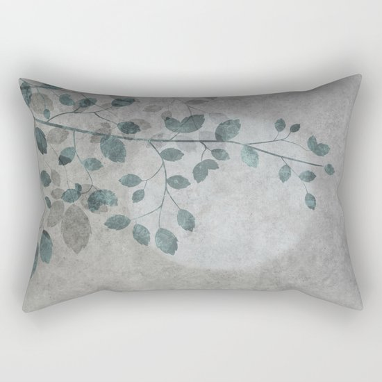 Pale moon mixed media illustration Rectangular Pillow