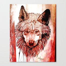 Alpha: Red Canvas Print