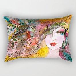beauty woman Rectangular Pillow