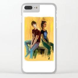 Jordan Kyle & Maia Roberts Clear iPhone Case
