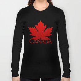 Canada Souvenir Red Maple Leaf Long Sleeve T-shirt