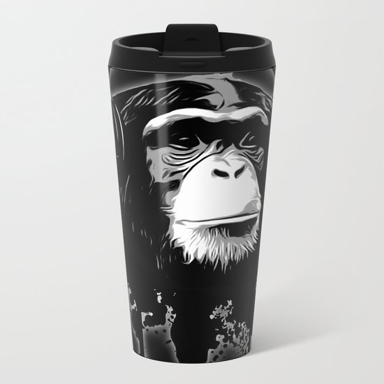 Monkey Business - Black Metal Travel Mug
