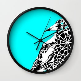 Minty Magpie Wall Clock