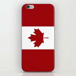 Canada: Canadian Flag (Red & White) iPhone Skin