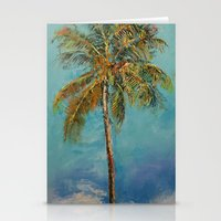 palm tree Stationery Cards featuring Palm Tree by Michael Creese