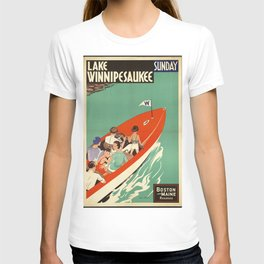 Lake Winnipesaukee - Vintage Poster T-shirt
