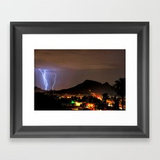 Lookout Mountain and Lightning Framed Art Print