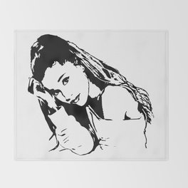 PORTRAIT 0F AN AMERICAN FEMALE POP STAR,ACTRESS AND SONGWRITER Throw Blanket