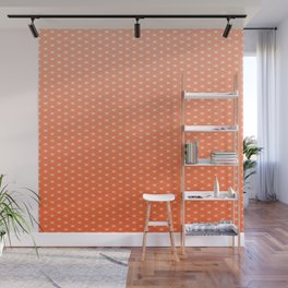 Living Coral Color Scales Pattern Wall Mural