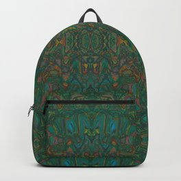 Copper Green Verdigris Abstract Watercolor Backpack