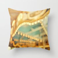 carnival Throw Pillows featuring carnival by Carl Christensen
