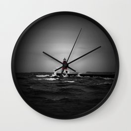 Lighthouse Glow Wall Clock