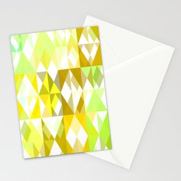 Pale Yellow Poinsettia 1 Abstract Triangles 1 Stationery Cards