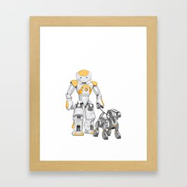 The Dog Walker. (Orange) Framed Art Print