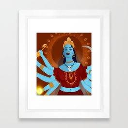 kali, the destroyer Framed Art Print