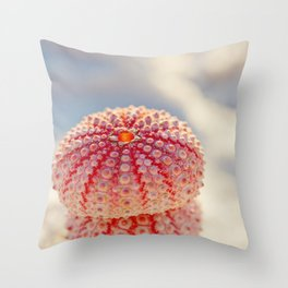 Pink Sea Urchins Throw Pillow