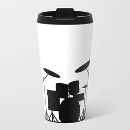 Rock Band Equipment Silhouette Travel Mug