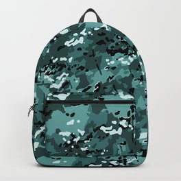 Turquoise Blue Popular Multi Camo Pattern Backpack