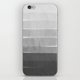 Brushstroke - Ombre Grey, Charcoal, minimal, Monochrome, black and white, trendy,  painterly art  iPhone Skin