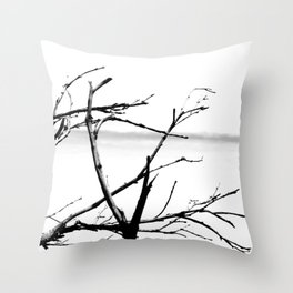 Lonely Branches Throw Pillow