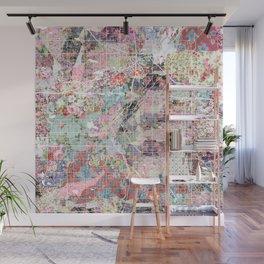 Denver map Wall Mural