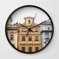 prague Wall Clocks featuring Prague   by Kameron Elisabeth