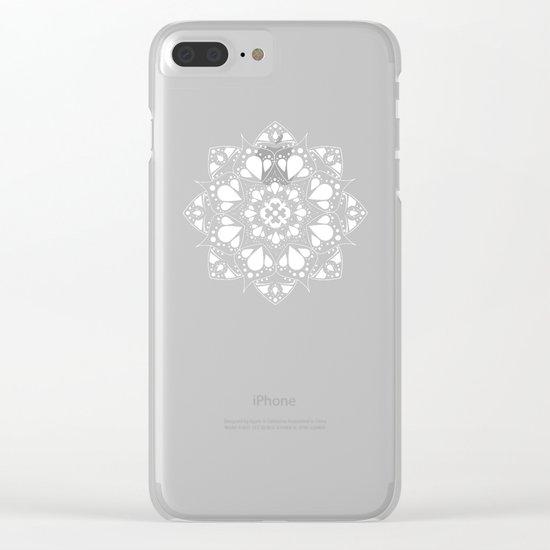 Mandala Black and White Magic Clear iPhone Case