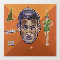 pilot Canvas Prints featuring Pilot by Terry Luc