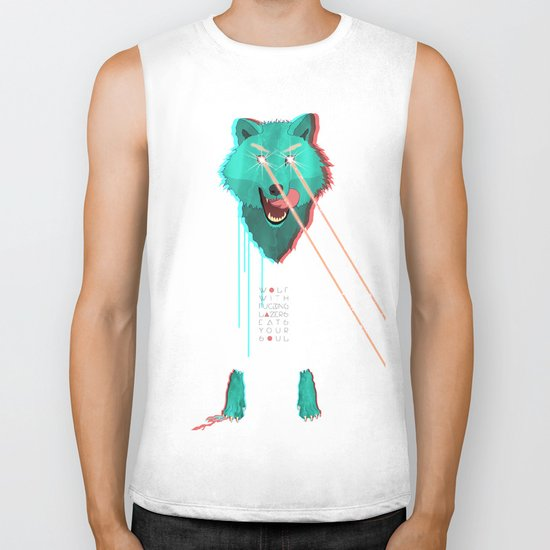 Wolf With F**king lasers Biker Tank
